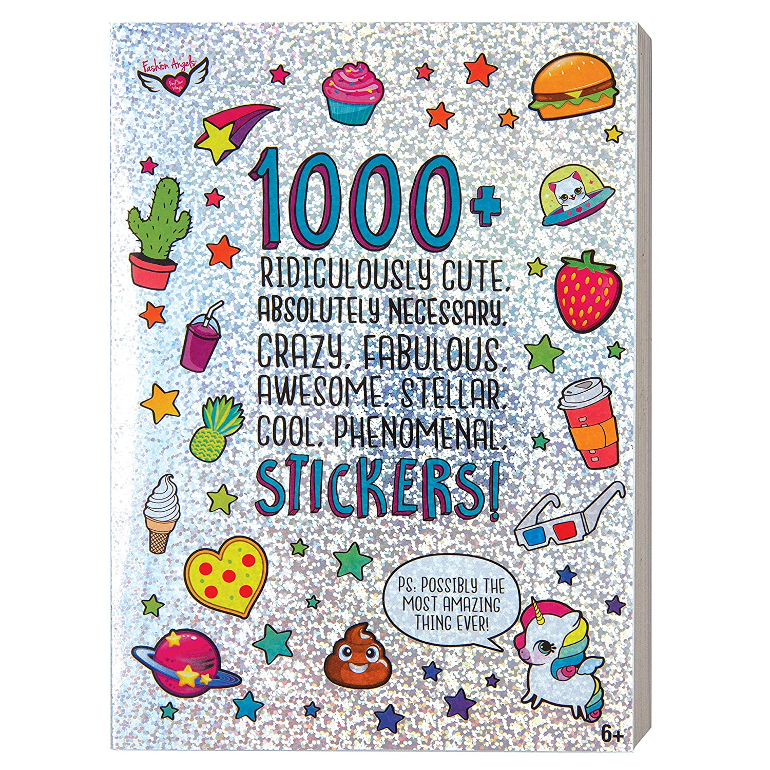 Amazon com fashion angels 1000 ridiculously cute stickers toys games