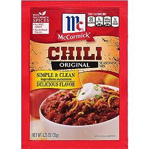 McCormick Chili Seasoning Mix, 1.25 oz