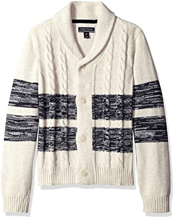 1757d685ceff Nautica Little Boys  Toddler Shawl Collar  Portmaster  Striped ...