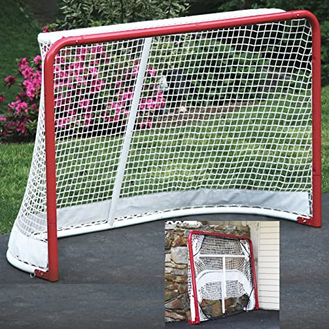 EZGoal Hockey Folding Pro Goal Backstop Targets 2 Inch Red White Outdoor 67008