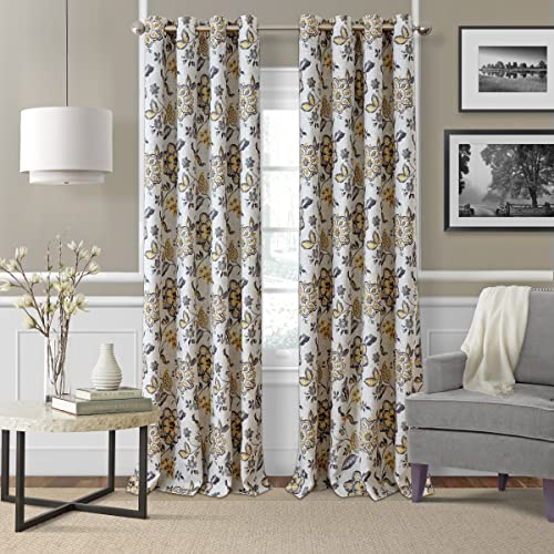 Elrene Home Fashions Room Darkening Grommet Linen Single Panel Window Curtain Drape - a good cheap window curtain panel