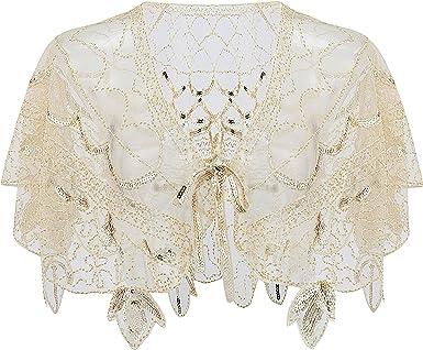 Flapper Accessoires Charleston Cape de Mariage Femme Ann/ée 20 Vintage Partie /à Th/ème Soir/ée ArtiDeco 1920s Ch/âle