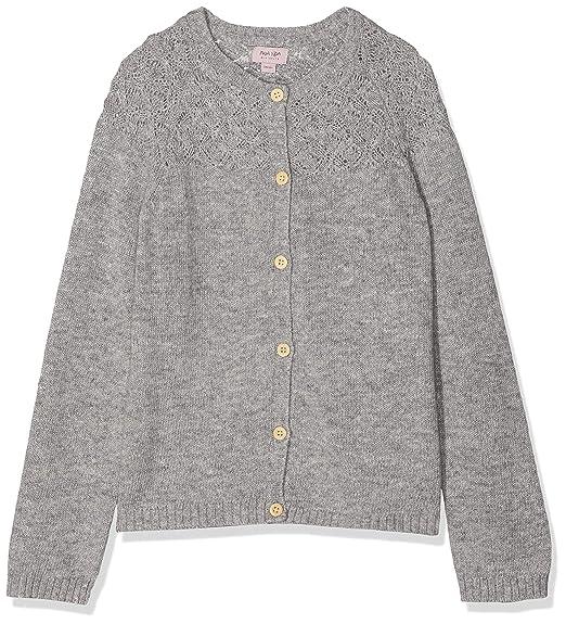 3d7cd83f1b741c Noa Noa miniature Mädchen Strickjacke Mini Wool Knit, Grau (Grey Melange 5),