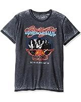 Jack of All Trades Men's Aerosmith Vintage Back in the Saddle Tour 1984 Burnout T-Shirt