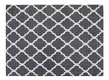 gray and white rug. Chesapeake Merchandising 46800 Cotton Printed Area Rug, 5-Feet By 7-Feet, Grey And White Quatrefoil: Amazon.ca: Home \u0026 Kitchen Gray Rug P