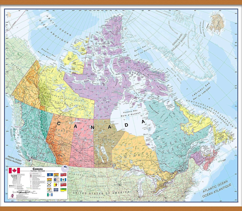 Large Map Of Canada Amazon.: Maps International Large Political Canada Wall Map