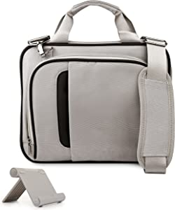 VanGoddy Pinn Silver Black Messenger Bag Suitable for Acer Iconia Series and Iconia Tab Series, 8