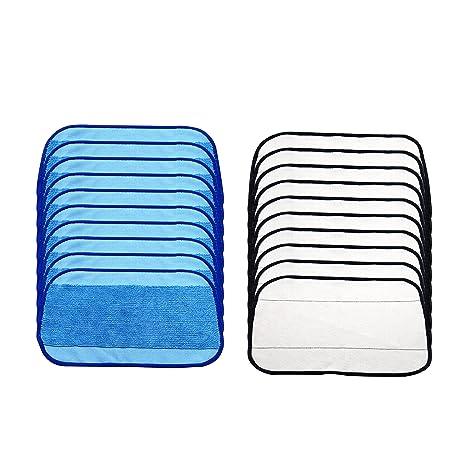 bonadget 20-Pack de microfibra paños de limpieza para iRobot Braava 380 380t 320 Mint
