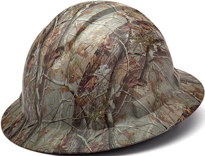 e99fc92b Pyramex Ridgeline Full Brim Hard Hat, 4-Point Ratchet Suspension, Matte  Camo Pattern - - Amazon.com