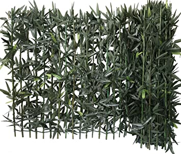 Haie de Bambou sur support rigide bambou naturel Brise Vue Haie ...
