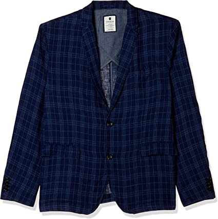 Jack & Jones Men's Notch Lapel Slim Fit Linen Blazer Men's Suits & Blazers at amazon