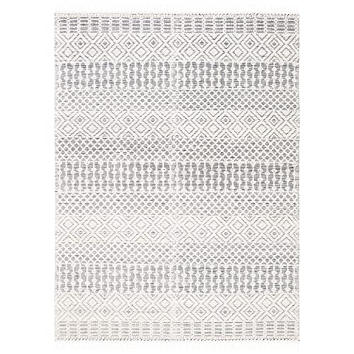 Safavieh Natura Collection NAT852Z Ivory and Black 6 x 9 Area Rug