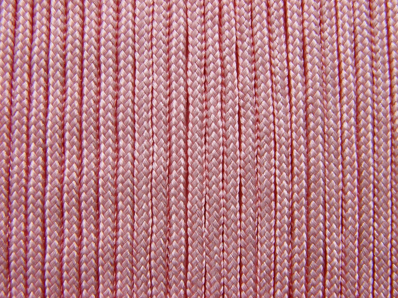 Rosa Dicke 2mm Fallschirmschnur Fallschirmseil Para.-Cord 4 Meter Flechtschnur Farbe