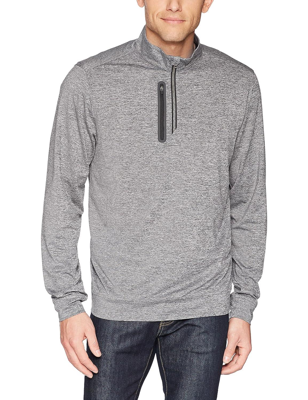 カッター&バックメンズドライテック50 + UPF Half Zipステルスジャケット胸ポケット B076JDBXZJ Small|Elemental Grey Elemental Grey Small