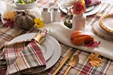 Cabin Plaid Square Tablecloth, 100% Cotton with