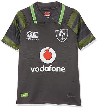 a5f09bf700d Canterbury Ireland Official 17/18 Kids Short Sleeve Alternate Pro Jersey,  Asphalt, Size