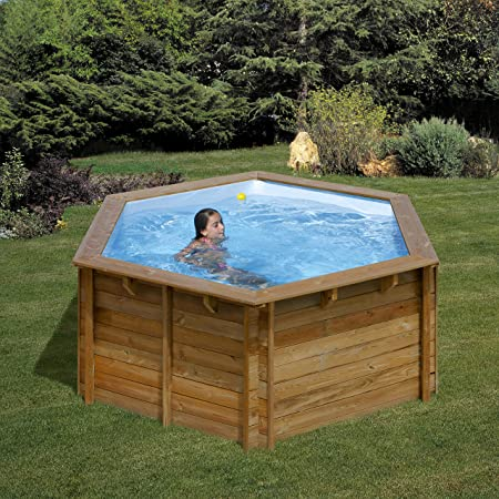 Piscina de madera GRE redonda Lili Wooden Pool GRE 790080: Amazon ...