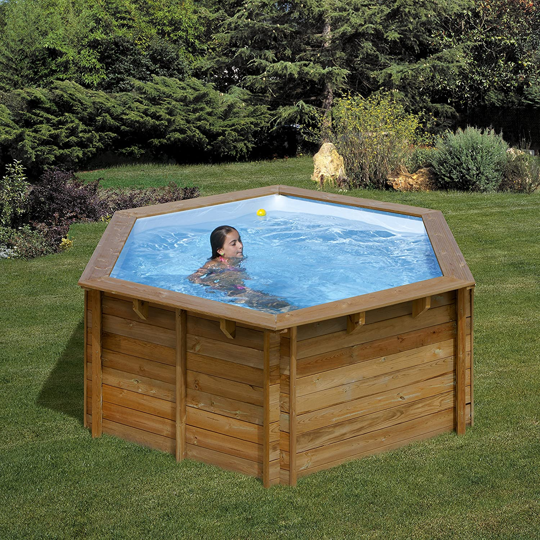 Piscina de madera GRE redonda Lili Wooden Pool GRE 790080 ...