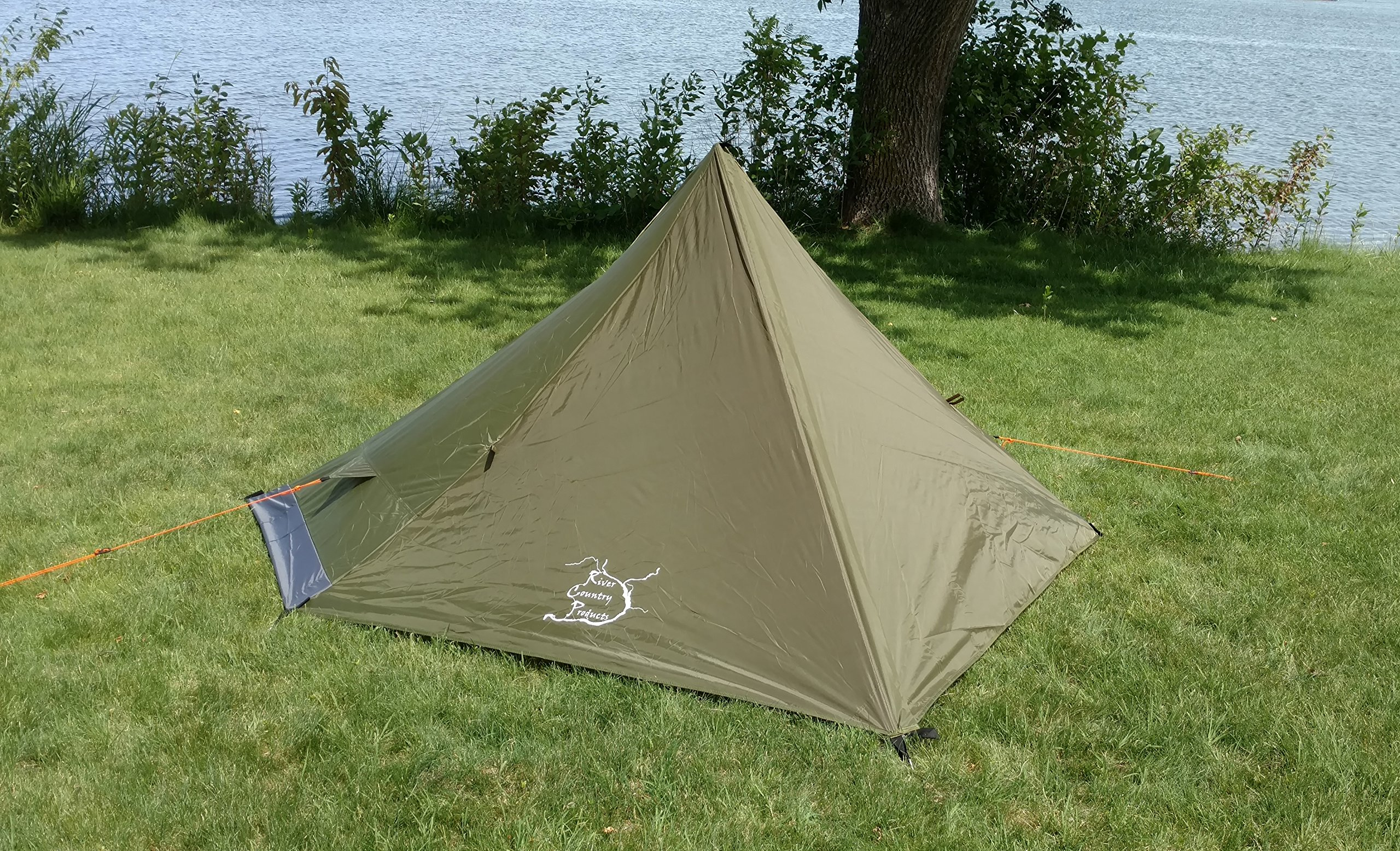 River Country Products One Person Trekking Pole Tent, Ultralight Backpacking Tent - Green by River Country Products