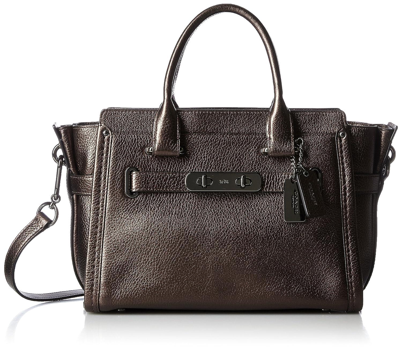 bc3da710e4 COACH Women s Pebbled Leather Coach Swagger 27 Li Navy One Size  Handbags   Amazon.com
