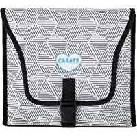 Carats Car Seat Cooler for Baby with COOLTECH - Baby Car Seat Cooling Pad (Black and White)