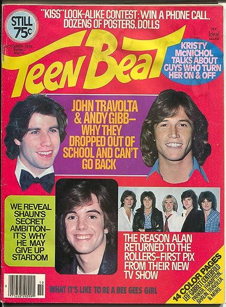 Teen Beat 10/1975-KISS-John Travolta-Leif Garrett-Farrah