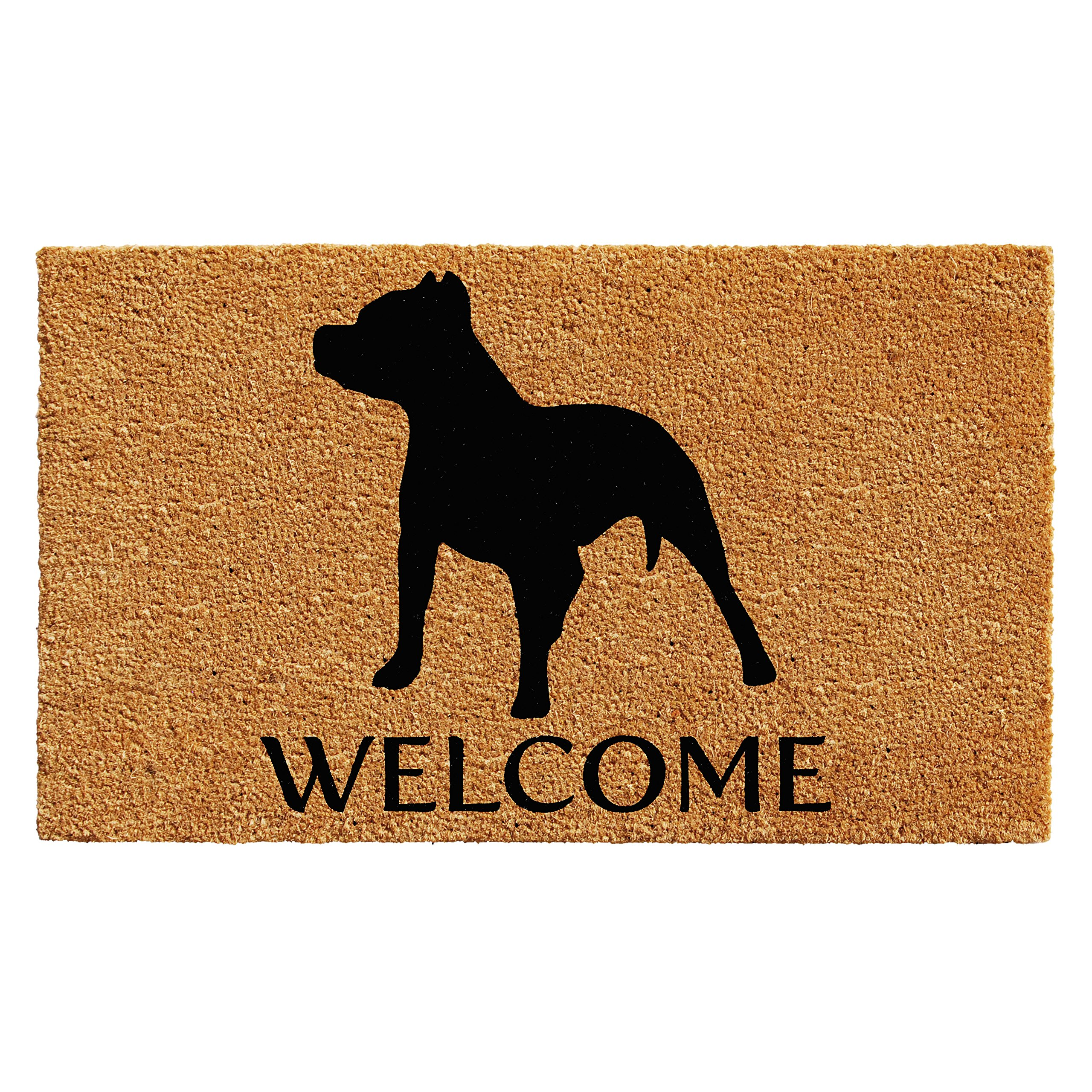 Home & More 103012436 Pit Bull Doormat 2' x 3', Natural/Black