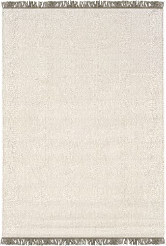 Linon Verginia Berber Off-White Natural Fiber Rugs, 3.5 x 5.5, Brown