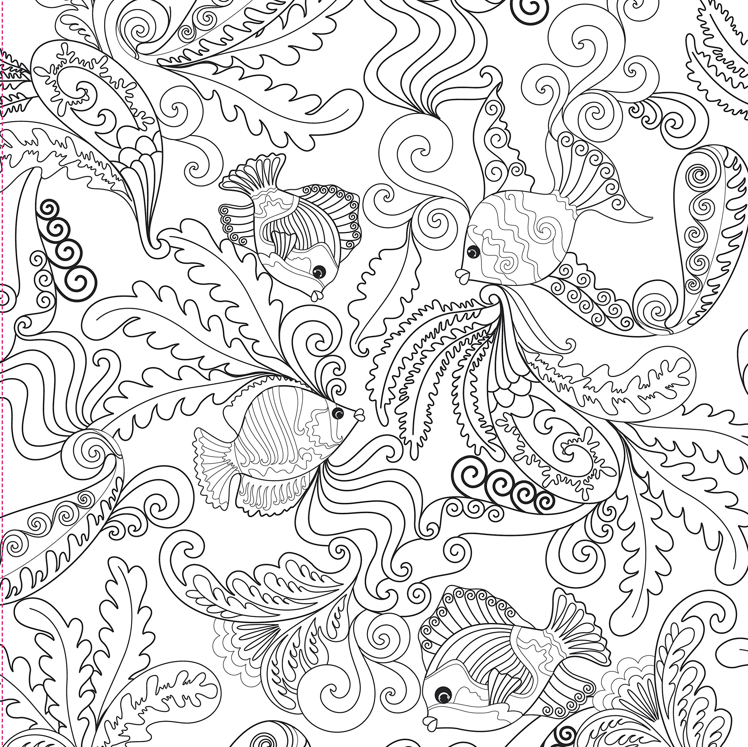 Amazon.com: Ocean Designs Adult Coloring Book (31 stress-relieving ...