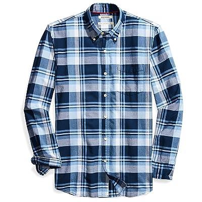 Brand - Goodthreads Men's Standard-Fit Long-Sleeve Lightweight Madras Plaid Shirt: Clothing