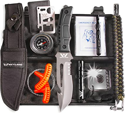 12 Pcs Camping Survival Kit Outdoor Hunting Tactical Gear Emergency EDC Tools