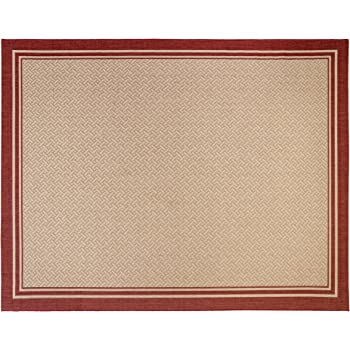 gertmenian 21361 nautical tropical carpet outdoor patio rug 8x10 large border red. Black Bedroom Furniture Sets. Home Design Ideas
