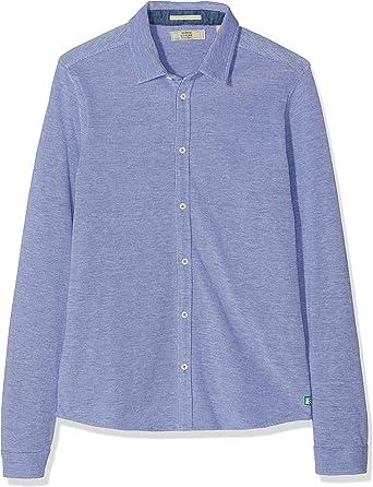 Scotch & Soda Shrunk Pique Shirt Blusa, Multicolor (Combo B ...