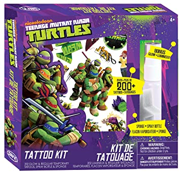 Amazon.com: Savvi – teenage mutant ninja turtles tatuaje ...