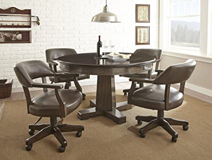 1ec2be507 Image Unavailable. Image not available for. Color  Steve Silver Rudy  Reversible Game Table in Medium Walnut