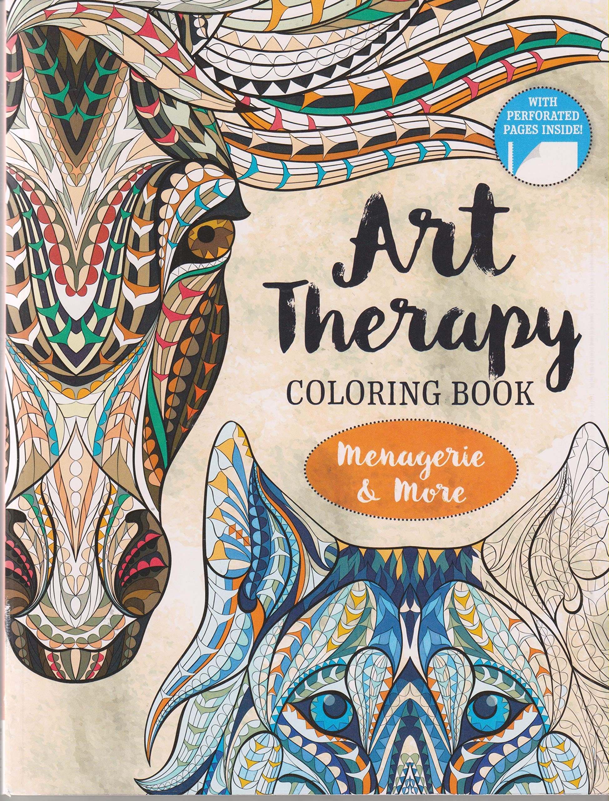 - Art Therapy Coloring Book Menagerie & More: 9781488902864: Amazon