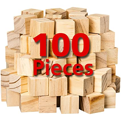 Wooden Cubes For Arts And Crafts Diy Photo Blocks 1 Inch Unfinished Natural Wood Blocks 100 Pieces By Dragon Drew