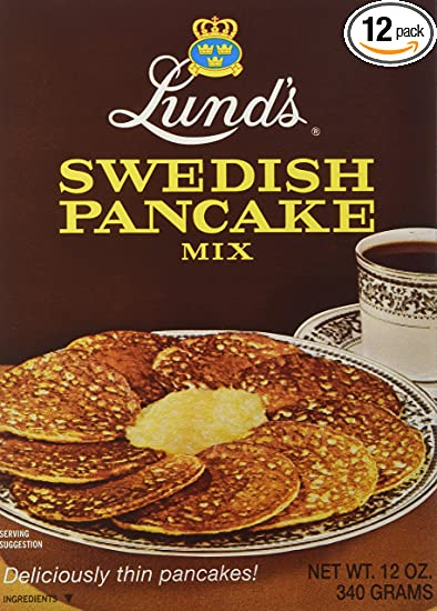 Amazon lunds swedish pancake mix 12 ounce boxes pack of 12 lunds swedish pancake mix 12 ounce boxes pack of ccuart Image collections
