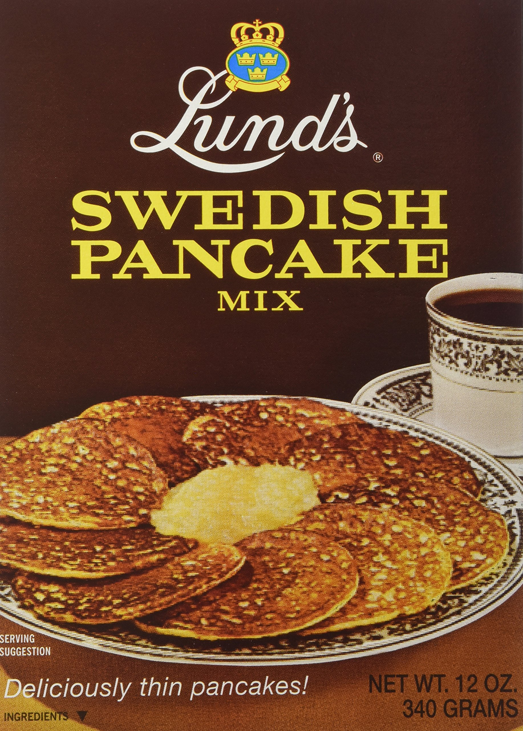 Lund's Swedish Pancake Mix, 12-Ounce Boxes (Pack of 12) by Lunds (Image #1)