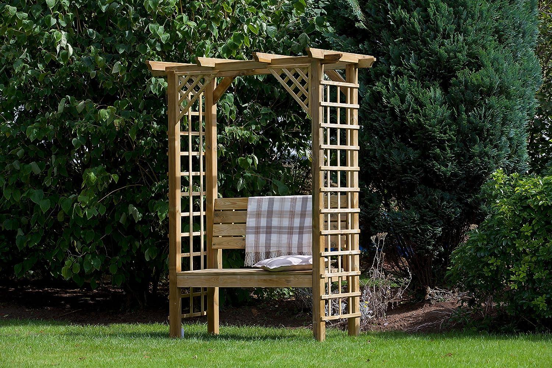 HGG – jardín arco con arco – Banco para jardín con asiento ...
