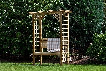Hgg - Arche de jardin avec banc - Arche de jardin avec ...