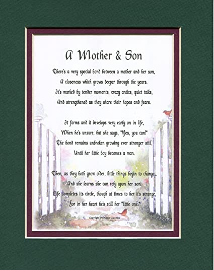 Amazon Genies Poems A Mother And Son Poem Birthday Present For Or 01 Home Kitchen