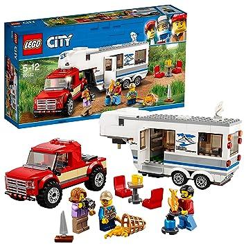 amazon レゴ lego シティ キャンプバンとピックアップトラック 60182