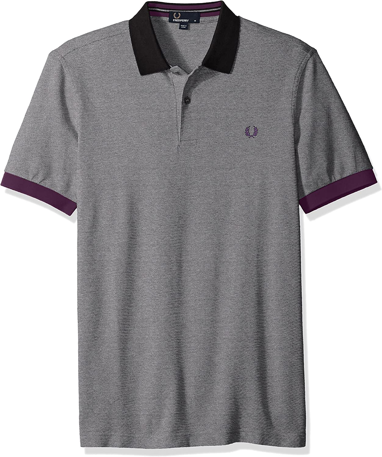 Fred Perry Camisa de Polo de piqué de color bloque Negro M: Amazon ...