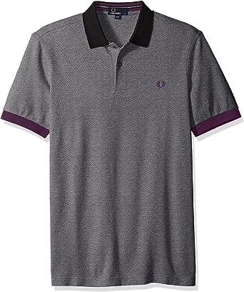 Fred Perry Camisa de Polo de piqué de color bloque Negro M: Amazon.es: Ropa y accesorios
