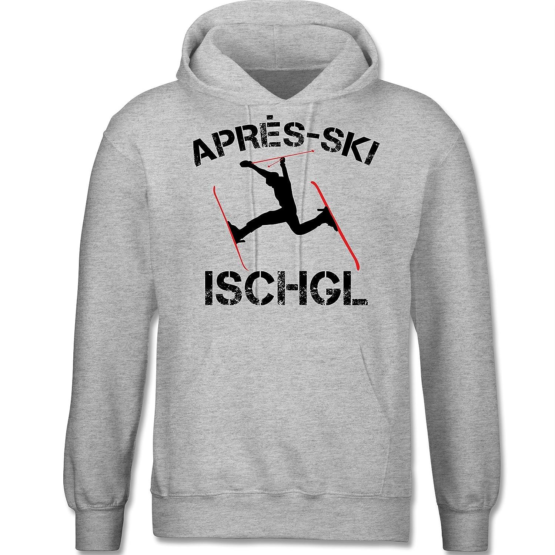 Après Ski - Apres Ski Ischgl - langärmeliger Herren Kapuzenpullover / Hoodie