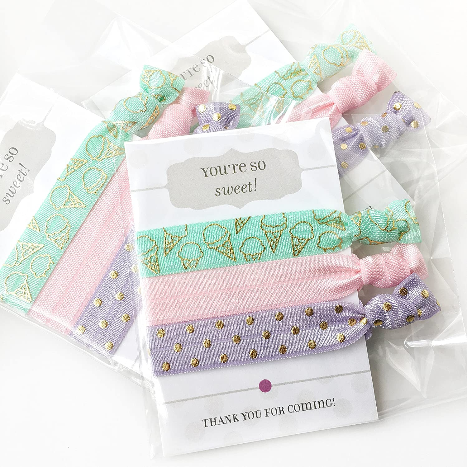 Ice Cream Party Favours - Hair Ties (5 Pack)