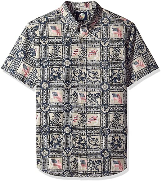 4fa2c958f09 Reyn Spooner Men s Summer Commemorative Weekend Washed Tailored Fit Shirt   Amazon.in  Clothing   Accessories