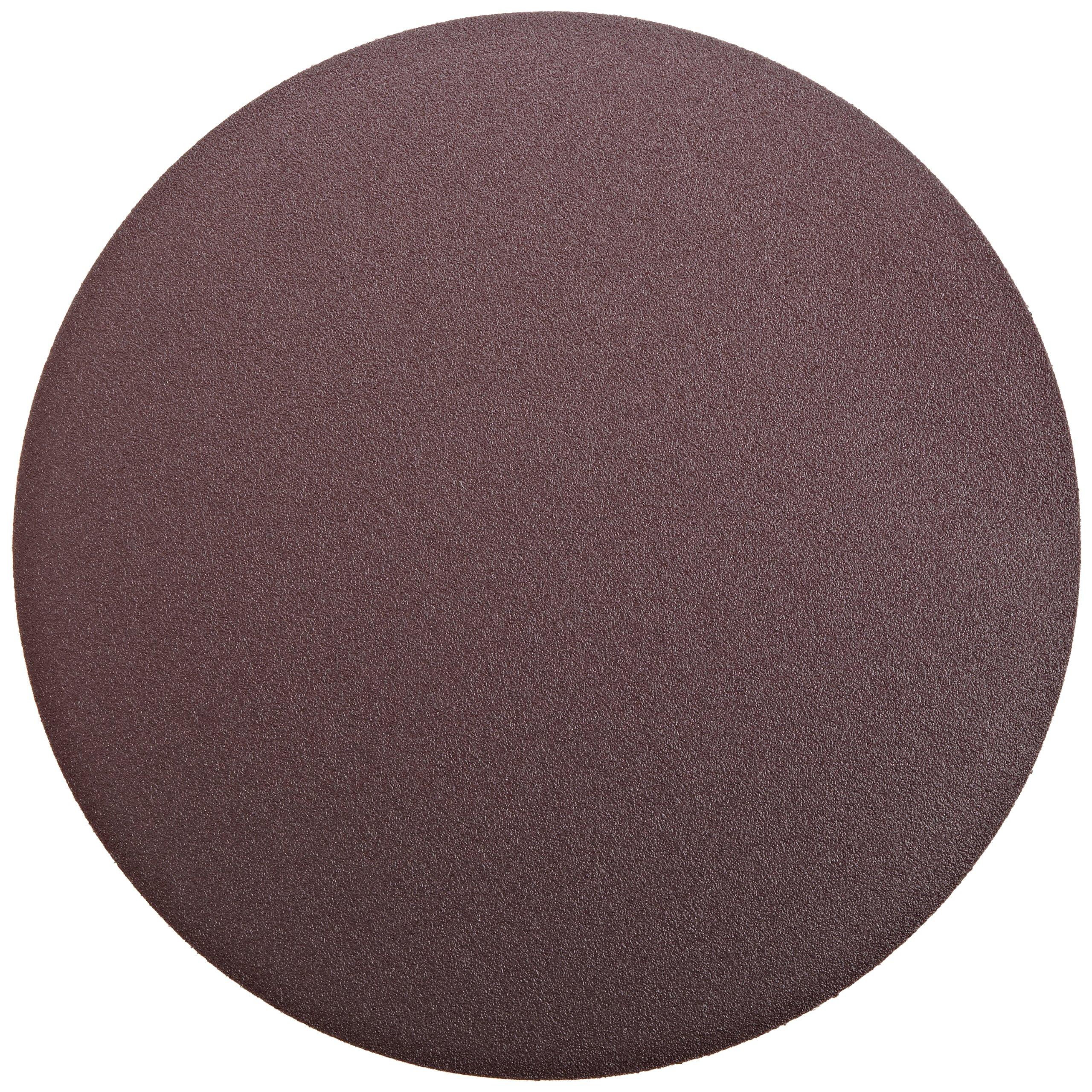 3M PSA Cloth Disc 348D, X Weight Cloth, PSA Attachment, Aluminum Oxide, 12'' Diameter, 80 Grit, Brown (Pack of 10) by Cubitron