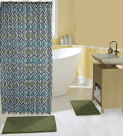 Amazon.com: Complete 15 Piece Bath Set with 2 Memory Foam Bath Mats on burgundy and green bathroom accessory set, burgundy carpet bathroom set, microfiber bathroom rug set, wood bathroom set, toilet set, natural bathroom set, plush bathroom set, full bathroom set, memory foam bathroom mat, bamboo bathroom set, disney bathroom set,